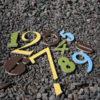 Linksmieji skaičiai – 9 mm storio, gamtos spalvos